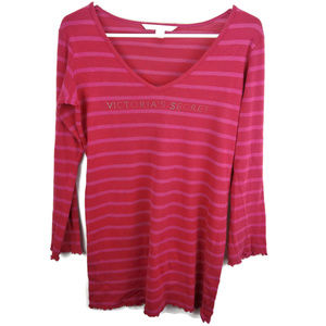 Victoria's Secret Red and Pink Bling Night Shirt